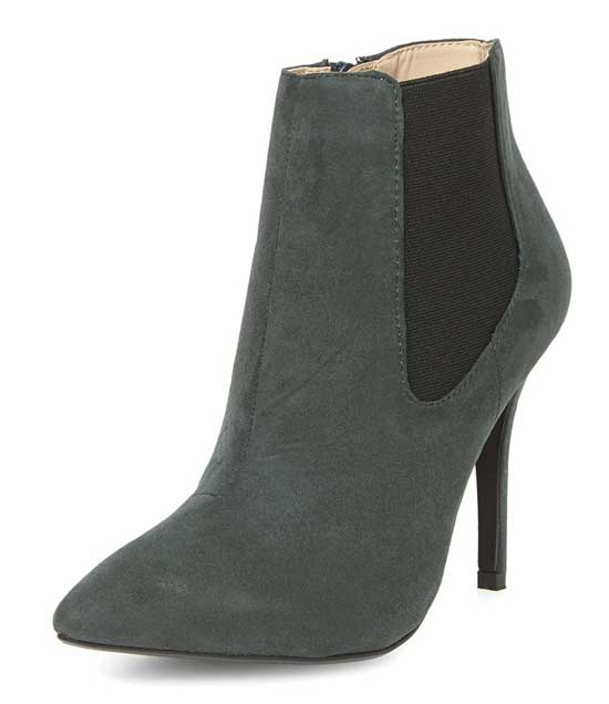 Dorothy Perkins forest green ankle boots