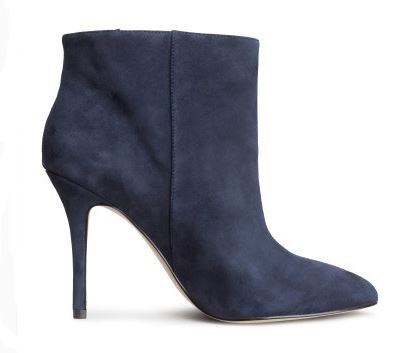 H&M Navy ankle boots