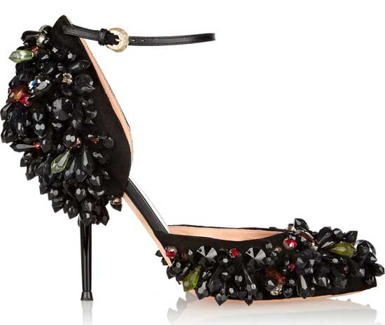 rochas embelished high heel shoes
