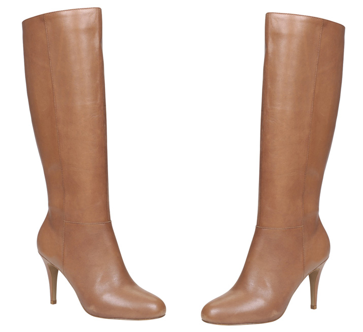 tan leather knee boots