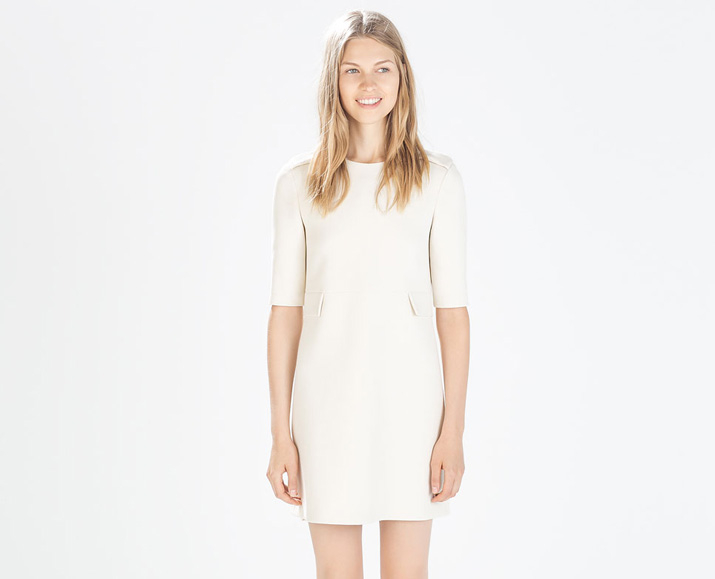 Zaar off-white mini dress