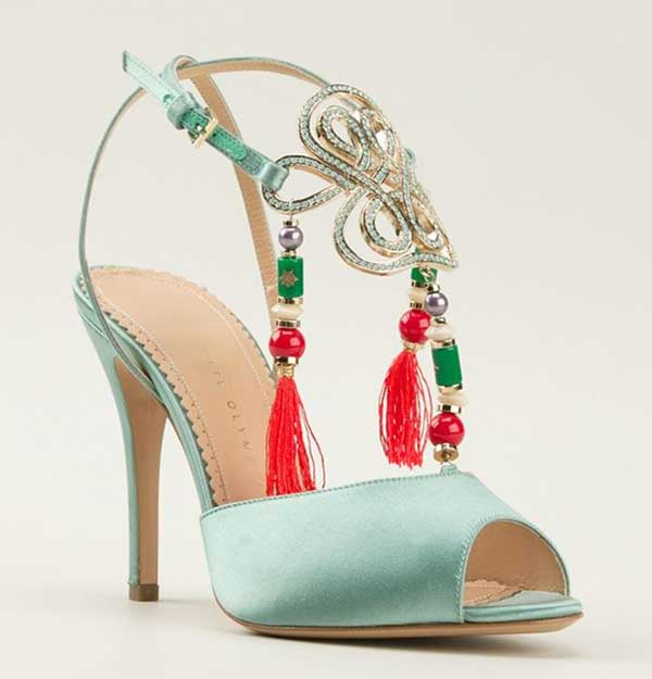 mint Charlotte Olympia sandals
