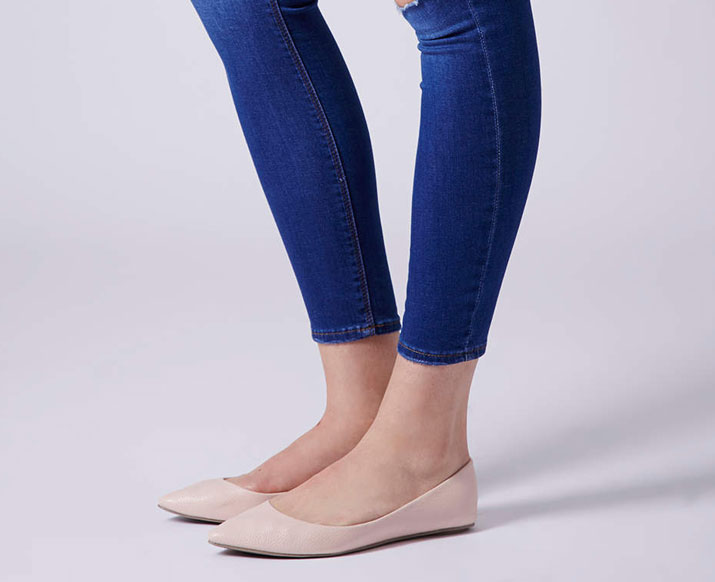 ballet flats with skinny jeans
