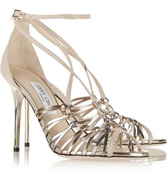 Jimmy Choo gold strappy sandals