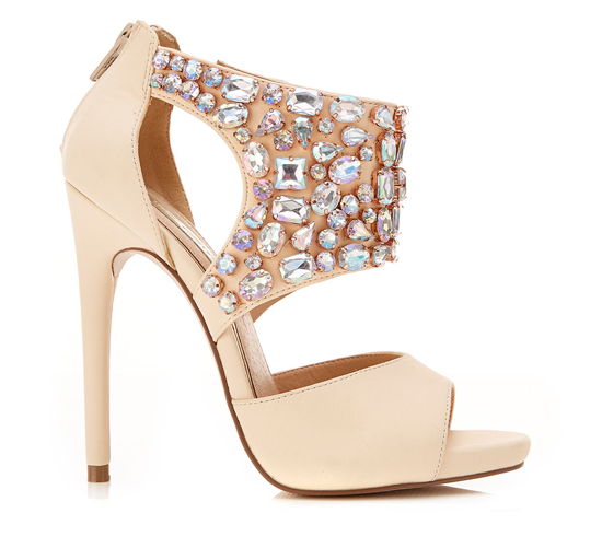 Miss Selfridge 'Cannes' embellished party sandals