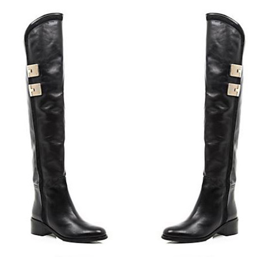 Shoe of the Day | River Island black leather over-the-knee boots ...
