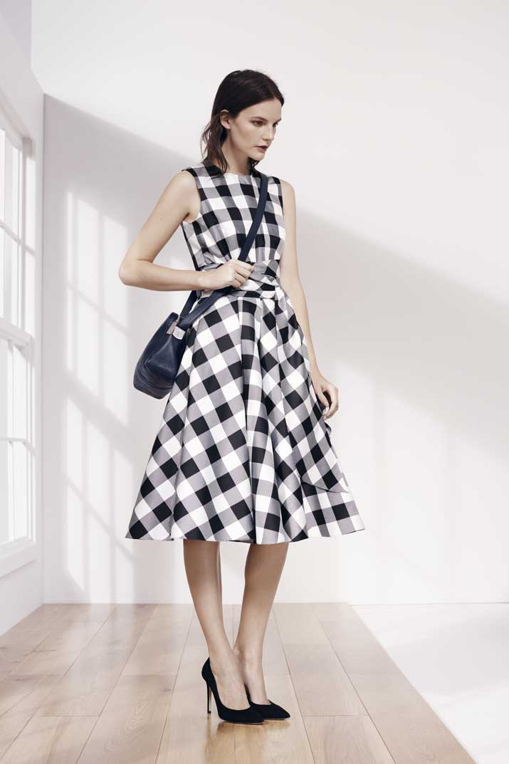 Hobbs gingham print dress