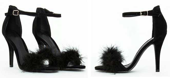 Shoe of the Day | Missguided 'Carrie' feather front sandals