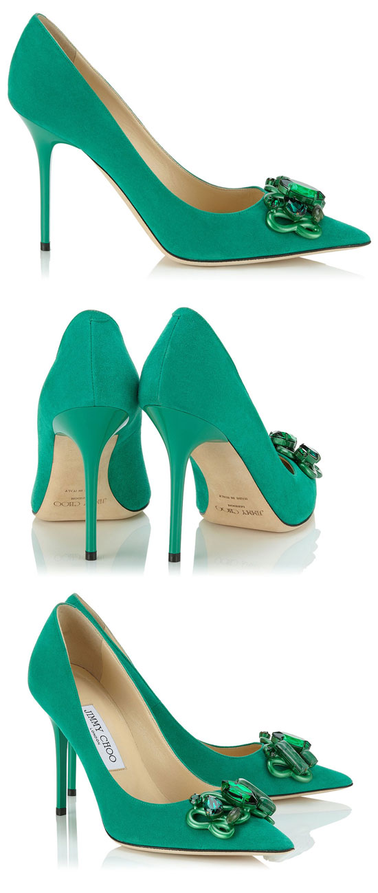 ad09e7b6e Shoe of the Day | Jimmy Choo 'Abel' emerald suede pumps > Shoeperwoman
