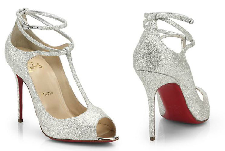 Christian Louboutin Talitha glitter t-bar pumps