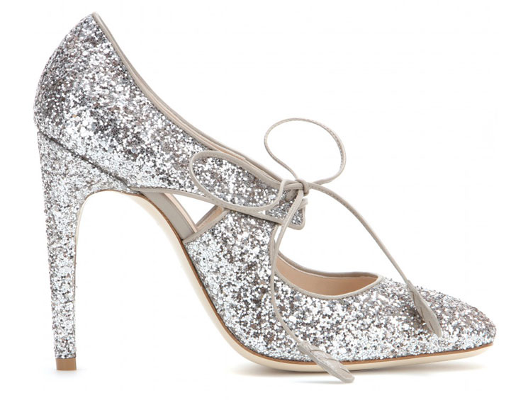 Shoe of the Day | Bottega Veneta silver glitter pumps > Shoeperwoman