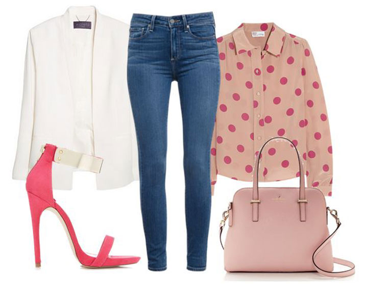 smart casual outfit featuring jeans and blazer