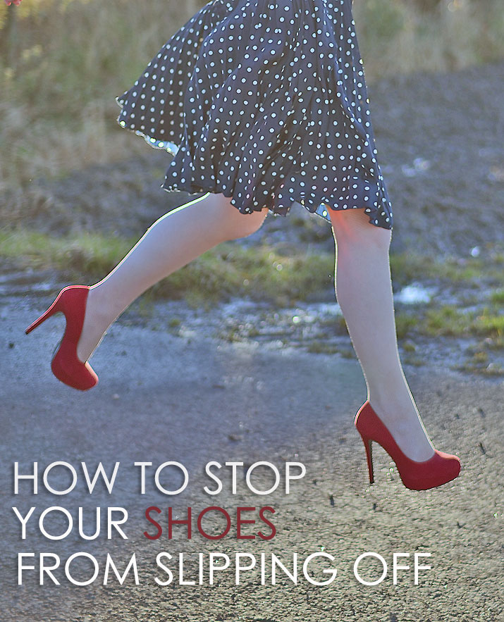 how to stop your shoes from slipping off