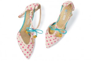 polka dot high heel shoes by Boden
