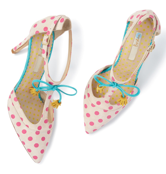 Boden 'Alice' polka dot high heel t-bar shoes