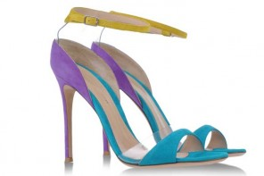 Shoe of the Day | Gianvito Rossi multicolour suede sandals