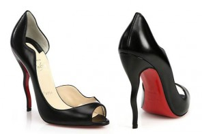 Friday Fix  | Christian Louboutin Wavy Open-Toe D'Orsay Pumps