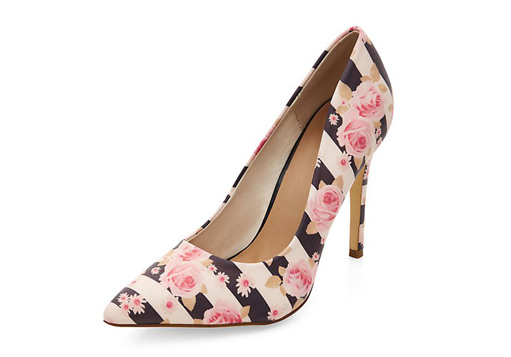 Shoe of the day new look pink floral stripe pointed court shoes new look pink floral stripe pointed court shoes mightylinksfo