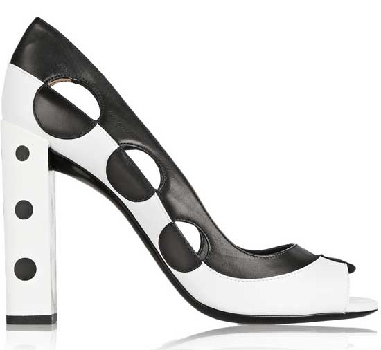 Fendi two-tone cutout peep-toes
