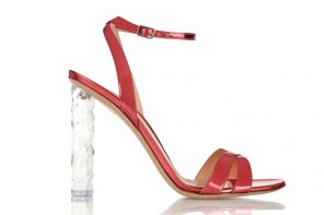 Gianvito Rossi red sandals with plexiglass heel