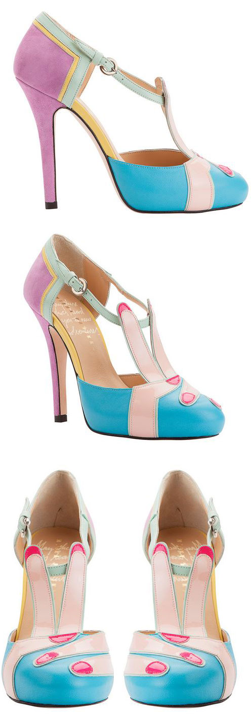 Minna Parikka 'Peace' multicoloured high heel shoes