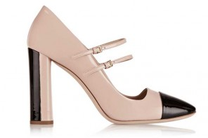 Shoe of the Day | Miu Miu two-tone patent-leather Mary Jane pumps