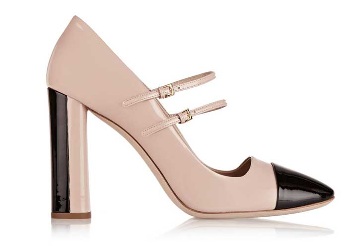 Miu Miu two-tone patent-leather Mary Jane pumps