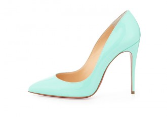 mint green Christian Louboutin Pigalle Follies