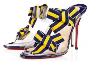 Christian Louboutin Delicanodo Patent/Pvc bow sandals