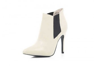 cream high heel ankle boots