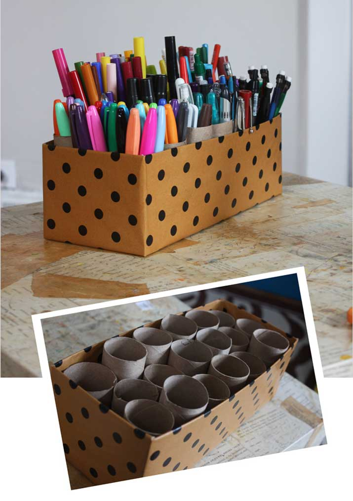 shoebox desk tidy