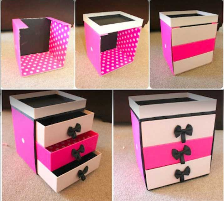 turn your old shoe boxes into DIY storage boxes