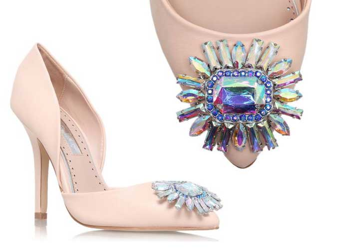 210ce15f8a Shoe of the Day | Miss KG 'Evelyn' pale pink pumps with jewel ...