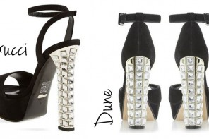 High Street Vs High End | jewelled heels from Gucci and Dune