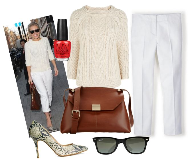 Inspired by… Mollie King's white and cream casual look