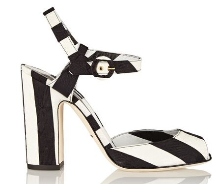 Dolce & Gabbana striped brocade sandals