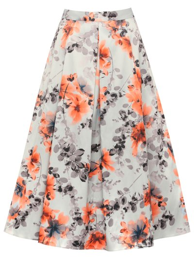 floral print prom skirt