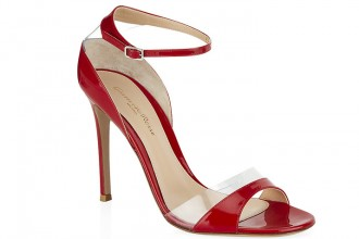 Gianvito Rossi red 'Vernice' high heeled sandals