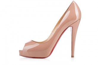 Christian Louboutin Very Prive 120 patent peep toes