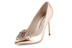 Shoe of the Day |Sophia Webster Coco Bead-Rose Metallic Pumps