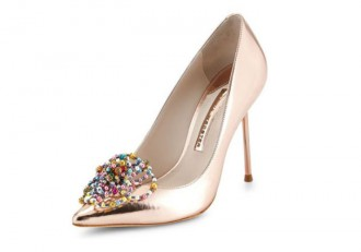Sophia Webster Coco Bead-Rose Metallic Pumps