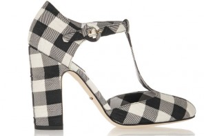 Shoe of the Day | Dolce & Gabbana gingham brocade T-bar pumps