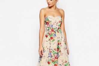 floral bandeau dress