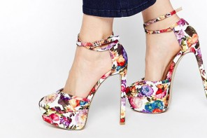 ASOS 'Pageant' floral plaftform shoes