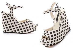 Shoe of the Day | Alice + OIivia polka dot 'Jenna' wedges