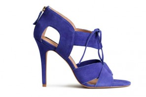 Shoe of the Day | H&M purple suede lace-front sandals