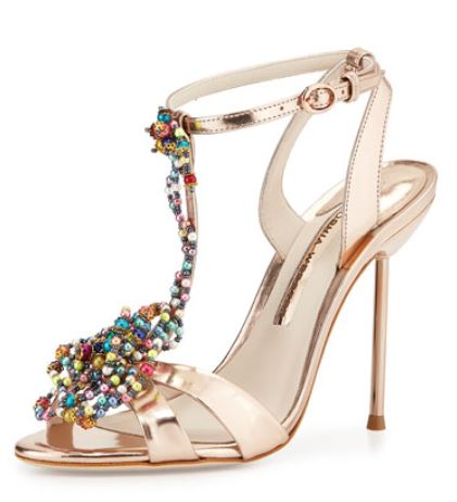 Sophia Webster rose gold sandals