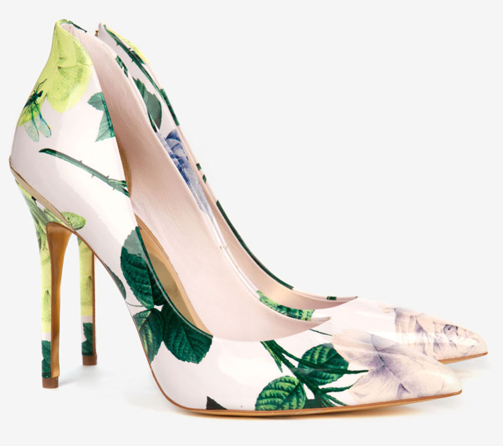 Ted Baker floral print court shoes