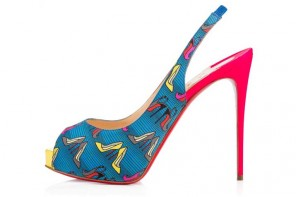 Christian Louboutin 'Private Number' Tissu Afri Loubi