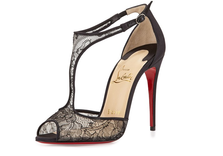 Christian Louboutin 'Tiny Lace' t-bar sandals